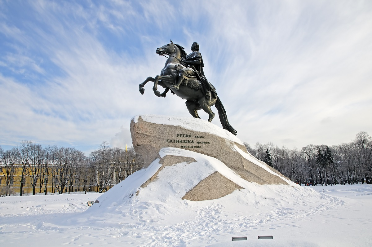 The Bronze Horseman. Monument to Peter the Great. St. Petersburg